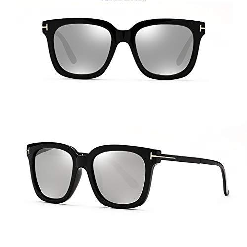 Marco de de Hombre Tendencia Vintage Cara Calle de Redondo polarizadas y Cuadrado Nueva Coreana Gafas sol Mujer Redonda Versión C de PWcEIWqa