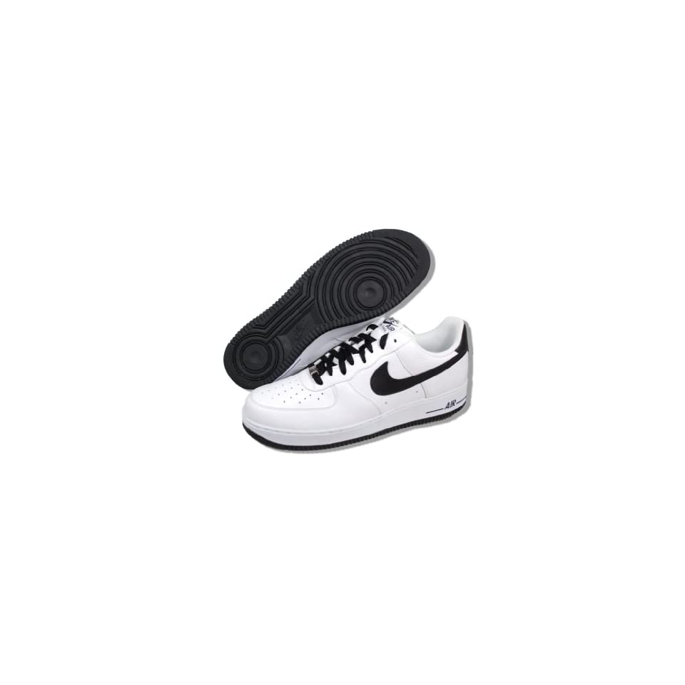 Nike Air Force 1 07 Le Low White Black Swoosh Mens Casual Shoes 315122 184