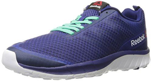 Reebok Women's Soquick Running Shoe, Night Beacon/Exotic Teal/White/Icono Pink, 9 M (Ladies Beacon)