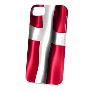 Case Fun Apple iPhone 5 / 5S Case - Vogue Version - 3D Full Wrap - Flag of Denmark