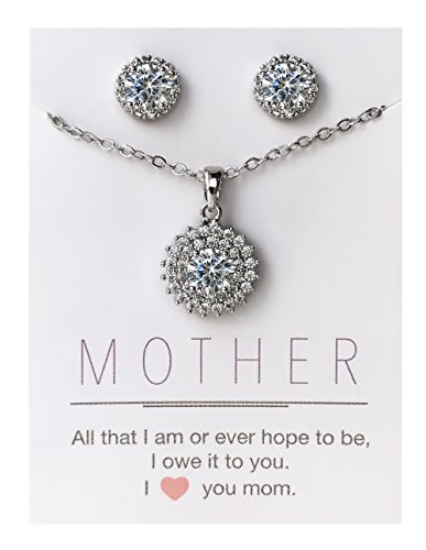 Silver Earrings Necklace Mother Jewelry