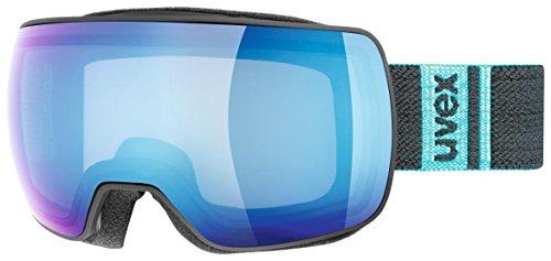 Uvex Compact FM Ski Goggle - Black Mat With Blue Lens