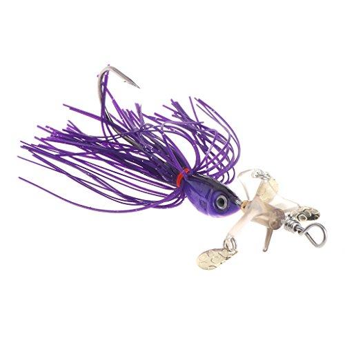 ULKEMEFishing Lure Bait Spinner Crankbaits 18g Spoon Artificial Hard Fish Tackle Tools (purple)