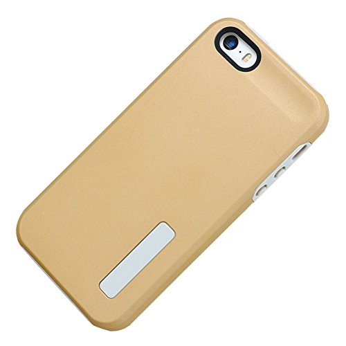 HICASER iPhone SE Case, 5S Hülle, Hybrid Dual Layer Case [Shock Proof] Drop Resistance TPU +PC Handytasche Schutzhülle für iPhone 5 5S / iPhone SE Gold