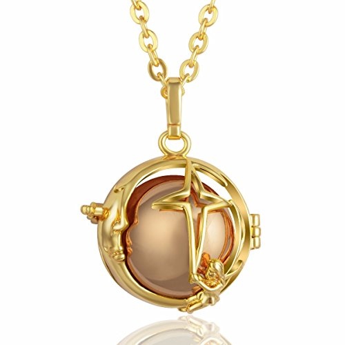 (EUDORA Harmony Bola Moon Story Angel Chime Caller Chime Pendant 30'' Necklace Baby Shower Cute Prayer Gift)