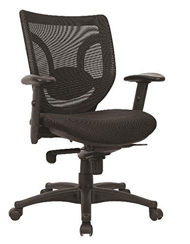 """Marquis Kabel Mesh Back Chair Overall Dimensions: 27""""W X 26""""D X 36.5-39.5""""H Seat Size: 20.5""""W X 19.5""""D Back Height: 20"""" - Black"""