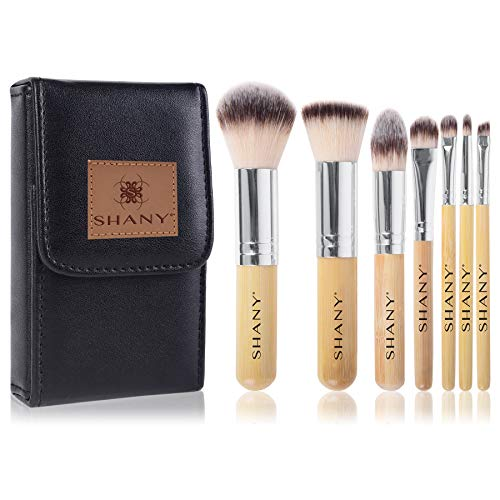 (SHANY 7 Piece Petite Pro Bamboo Brush Set with Carrying Case, I Love Bamboo )