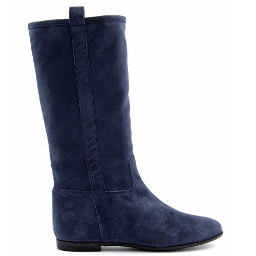 Tippie di Parigi Esclusivi scuro stivali blu qzC5F1x