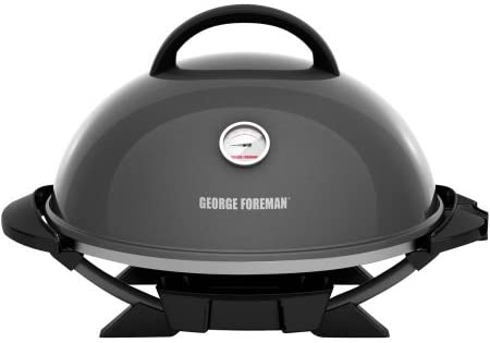 George Foreman PRO Indoor Outdoor Grill , 240 Sq In, Ceramic Plates, Temp Gauge,