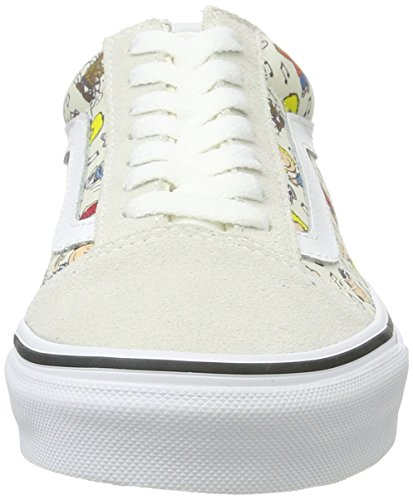 Vans Unisex Old Skool (arachidi) Skate Shoe Multi / True White