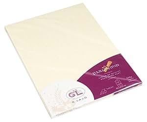 Georges Lalo - Paquete de 20 hojas de papel acartonado (carta doble tamaño C6, 215 x 152 x 0,80 mm), color marfil