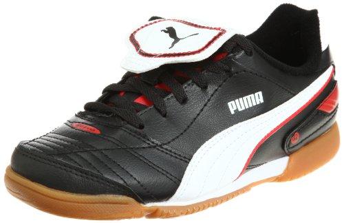 Puma Esito Finale IT Jr 102018 Unisex - Kinder Sportschuhe - Fußball Schwarz/black-white-puma red