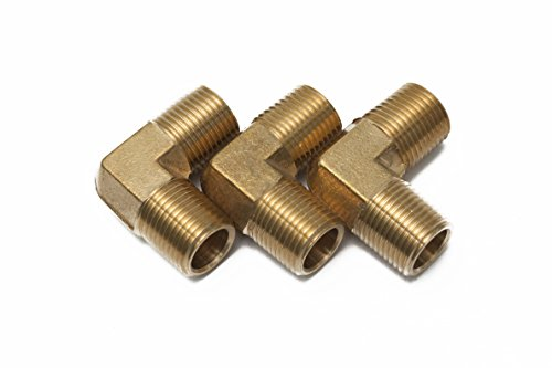 Generic Brass Pipe Male 90 Deg Elbow Fitting 1/2