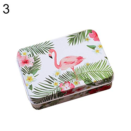 Wedding Plate Invitation (Dds5391 Refined Fashion Flamingo Tinplate Trinket Candy Jewelry Coin Container Storage Box Case - 3#)