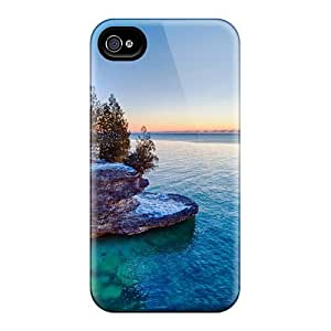 Awesome Case Cover/iphone 4/4s Defender Case Cover(sunrise Over Lake Michigan)