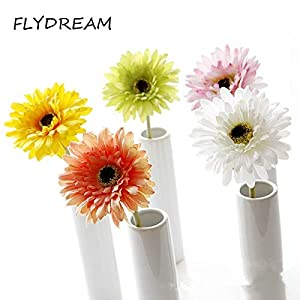Flowers Daisy Hisshe FLYDREAM 10pcs/lot Artificial Flowers Silk Simulation Fake Gerberas Flower for Home Decoration Wedding Bouquets Supplies (Random) 26