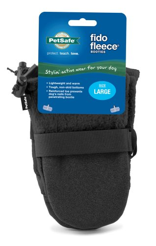 Premier Pet Fido Fleece Booties Solid Black Size Small - Fido Fleece Coats