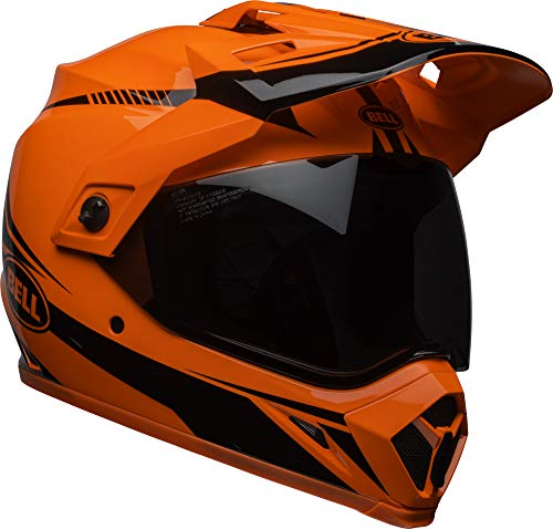 Bell MX-9 Adventure MIPS Full-Face Motorcycle Helmet (Gloss Hi-Viz Orange/Black Torch, XXX-Large)