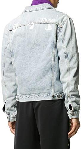 OFF-WHITE Luxury Fashion Uomo OMYE054F20DEN0014001 Azzurro Cotone Giacca Outerwear | Autunno-Inverno 20