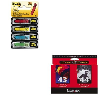 KITLEX18Y0372MMM684SH - Value Kit - Lexmark 18Y0372 Ink (LEX18Y0372) and Post-it Arrow Message 1/2amp;quot; Flags (MMM684SH)