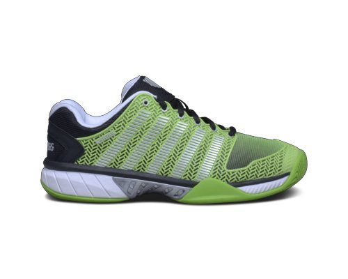 K Swiss Men's Hypercourt Express Tennis Shoe, Flash Green/Black (10.0, Flash Green/Black)
