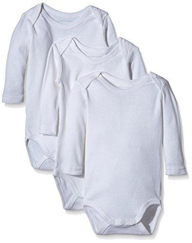 NAME IT Baby-Jungen Body NITBODY LS NB NOOS, 3er Pack, Gr. 62, Weiß (Bright White)