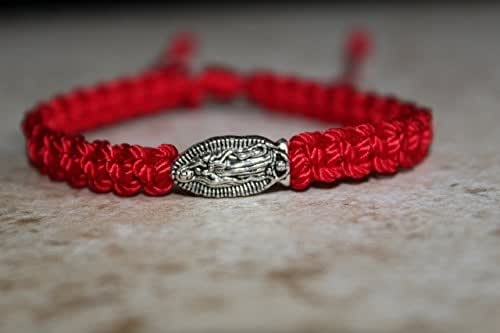 Amazon.com: Our lady of Guadalupe bracelet, red bracelet