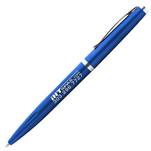 Slim Writer Pen (Pack of 50, 61¢ per Pen) Stylish Nickel Trim Promotional Pen Personalized with Custom Imprint Slim Metallic Color & Design Twist-Action - ()