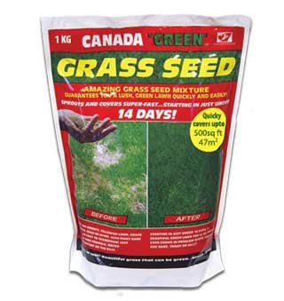 Canada Green Grass Seed 1KG. Coverage upto 47 Sq Metres 3604
