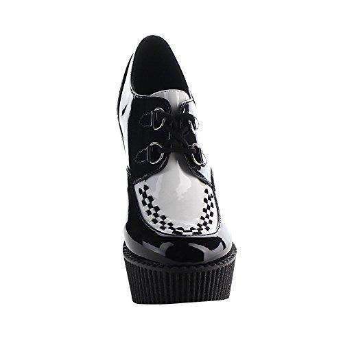 Demonia Womens Cre302 / Bvs Mode Sneaker Svart, Vit Pat
