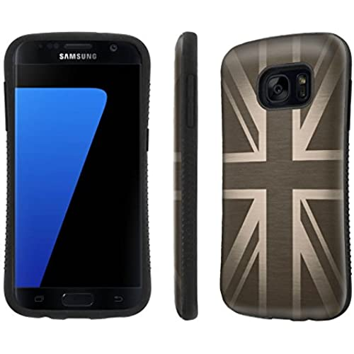 Galaxy [S7] Tough Designer Case [SlickCandy] [Black Bumper] Ultra Shock Absorbent - [British Flag] for Samsung Galaxy S7 / GS7 Sales