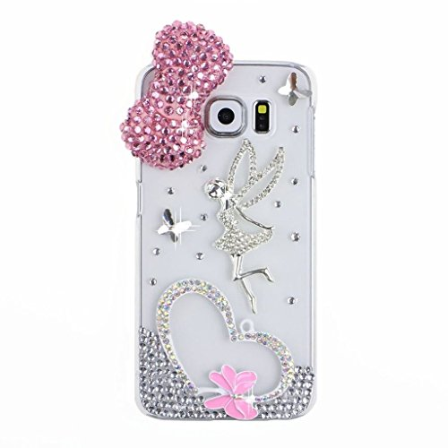 S6 Edge Case,Galaxy S6 Edge Case,EVTECH® 3D Handmade Fashion Crystal Rhinestone Bling Case Cover Hard Case Clear(100% Handcrafted)