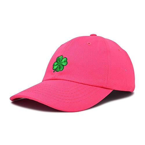 - DALIX Four Leaf Clover Hat Baseball Cap St. Patrick's Day Cotton Caps Hot Pink