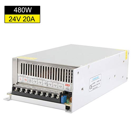 24vac Power Cctv Box Supply - YETAIDA AC/DC Switching Power Supply 24V, AC 100-240V to DC 24Volt 21A 500W Universal Switching Power Converter,Led Power Transformer for CCTV Camera,LED Strip Light