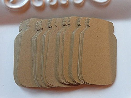"Small Mason Jar Canning Jar Kraft Brown Tags - Wedding Favor Paper Tags - Gift Tags - Price Tags - Size 1 3/8"" wide x 2 3/8"" tall (Set of 75 tags) from Honeybear Party Boutique"