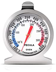Oven Thermometer 50-300°C/100-600°F, Oven Grill Fry Chef Smoker Thermometer Instant Read Stainless Steel Thermometer Kitchen Cooking Thermometer for BBQ Baking
