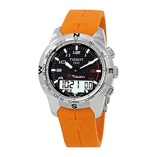 (Tissot Men's T0474204720701 T-Touch II Black Digital Multi Function Watch)