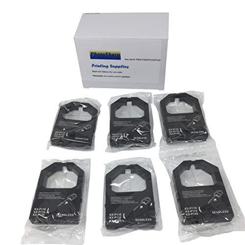 PhotoSharp 6 Compatible KX-P1124i KX-P1140 KX-P2023 Black Printer Ink Ribbon Cartridge Replacement for PANASONIC KXP145 KXP1124i KXP1140 KXP2023 Monochrome Dot?Matrix Fabric Printing Supplies