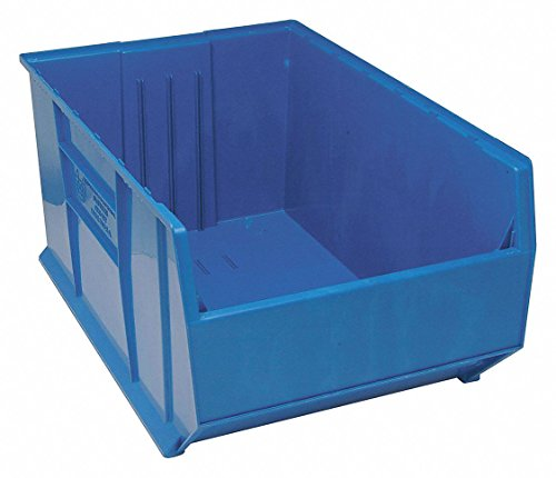 Store Bins Hopper - Quantum Storage Systems Hopper Bin, Blue, 17-1/2