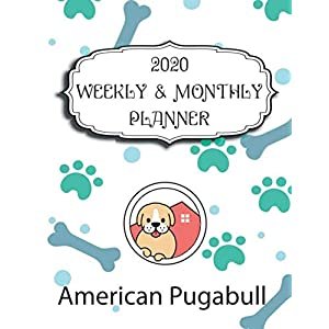 2020 American Pugabull Planner : Weekly & Monthly with Password list, Journal calendar for American Pugabull owner ,8.5x11: 2020 Planner /Journal Gift,135 pages, 8.5x11, Soft cover, Mate Finish 7