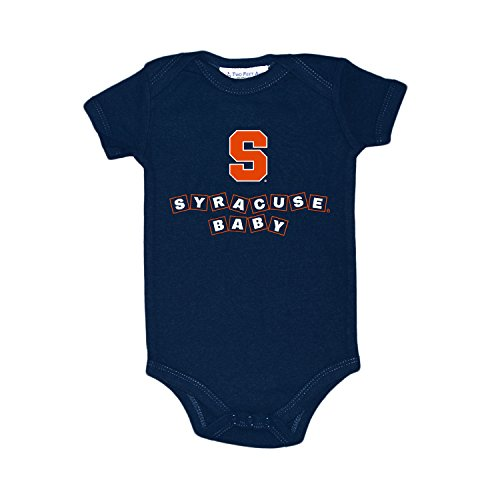 Two Feet Ahead Syracuse Orangemen Blocks NCAA College Newborn Infant Baby Creeper (12 Months) (Syracuse Blocks)