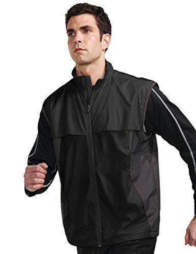 - Tri-Mountain Athlos Lightweight Windproof Vest, XL, BLACK/CHARCOAL