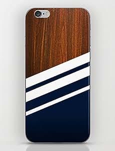 YULIN patrón de la marina de guerra de madera de nuevo caso para el iphone 6