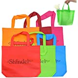 """Party Tote Bags, 13"""" One Side Blank Non-woven Bags with Handles for Party Favors Painting Party Snacks Decoration Arts & Crafts, 24 PCS"""