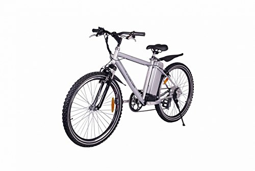 X treme alpine trails electric mountain bicycle silver for Alpine motors of raleigh