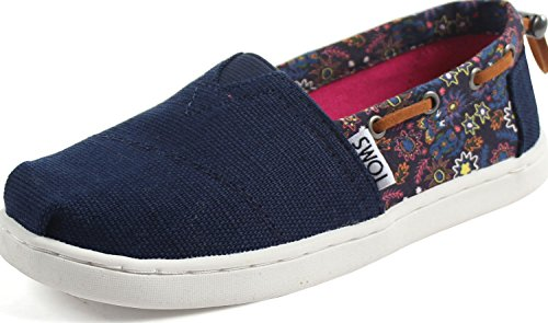 0651a1f9ffe TOMS Kids Girl s Bimini (Little Kid Big Kid) Navy Multi Forest Floral 2.5  Little Kid M