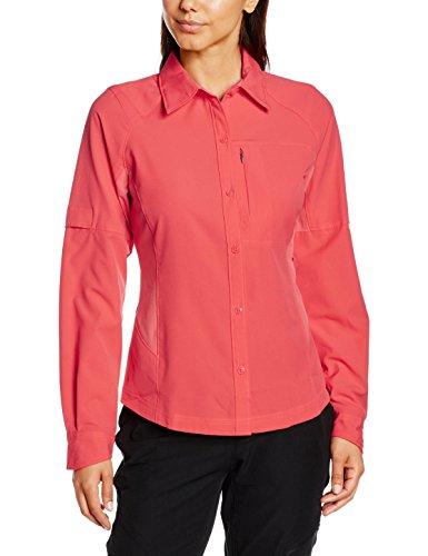 Columbia Womens Silver Ridge Long Sleeve Shirt, Red Camellia, Large
