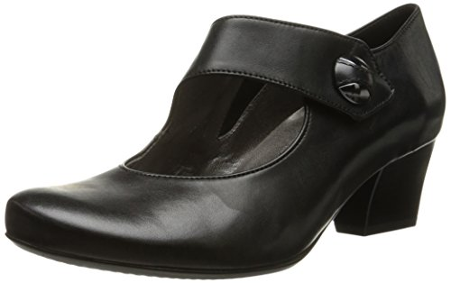 ara Women's Oriana Dress Pump, Black Leather, 8 M US ()