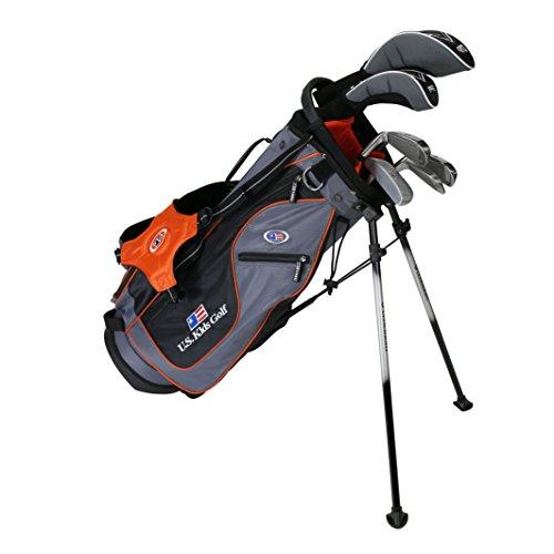 US Kids Golf UL51 6-Club DV2 Stand Bag Set, Right Hand, Grey/Orange by US Kids
