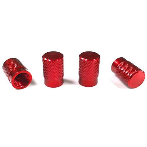 Aluminum Alloy Tire Valve Stem Caps (Red)